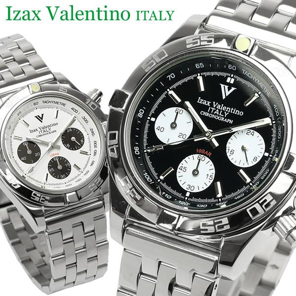 【Izac Valentino】【アイザックバレンチノ】 腕時計 メンズ クロノグラフ 10気圧防水 IV-8000 IVG-650 Men's ブランド ウォッチ