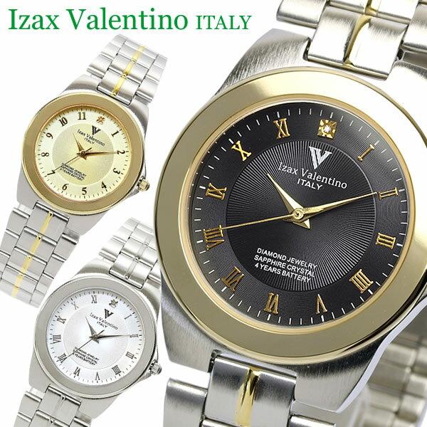 【Izac Valentino】【アイザックバレンチノ】 腕時計 メンズ 天然ダイヤ サファイヤガラス IVG-650 Men's ブランド ウォッチ