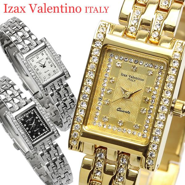【Izac Valentino】【アイザックバレンチノ】 腕時計 レディース スクエア ラインストーン IVL-7000 Lady's ブランド ウォッチ