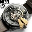 【送料無料】ディーゼル DIESEL 腕時計 メンズ 自動巻き 革ベルト レザー DZ4379 MEN'S ウォッチ オートマティック ブラック×ゴールド ブランド
