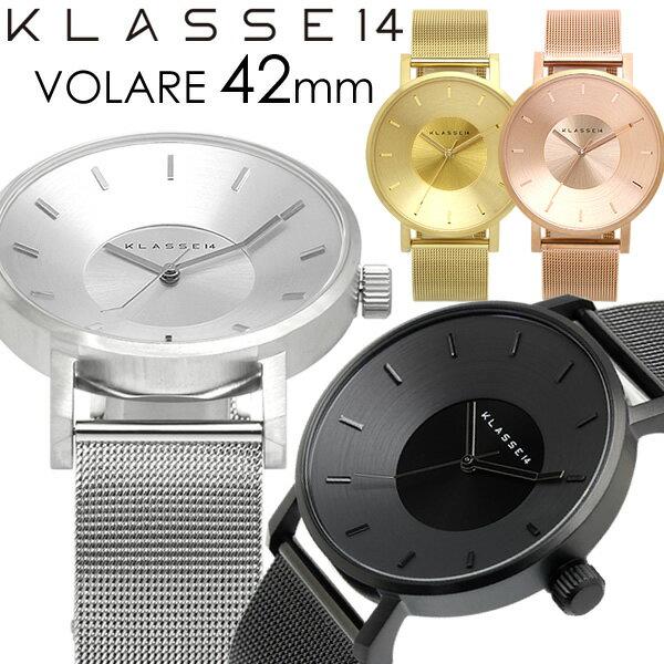 【2年保証】【100%本物保証】【送料無料】KLASSE14 クラス14 腕時計 メンズ 42mm メタルメッシュベルト ローズゴールド シルバー VOLARE クラスフォーティーン 人気 ブランド ウォッチ klasse14 クラッセ クラセ