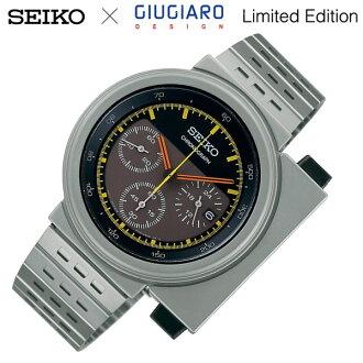 세이코 스피릿 GIUGIARO DESIGN 한정 모델 손목시계 크로노그라후멘즈코라보워치지우지아로・디자인 SCED035 1000엔 0개 한정 팔짱 치워 있어 MEN'S