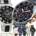 【Salvatore Marra】 サルバトーレマーラ 腕時計 メンズ クロノグラフ 10気圧防水 コンビベルト SM15104 限定モデル 人気 ブランド ウ...
