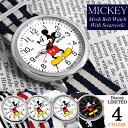 【ミッキーマウス】 腕時計 スワロフスキー NATOベルト ナイロン Mickey Mouse ディズニー レディース メンズ ユニセックス 男女兼用 NFC1500 キャラクター ウォッチ ミッキー ランキングお取り寄せ