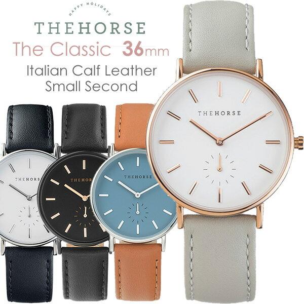 【送料無料】The Horse ザホース ザ・ホース 腕時計 レディース 革ベルト レザー ウォッチ ローズゴールド ピンク ホワイト ブランド 人気 ランキング シンプル クラシック THE CLASSIC 36mm