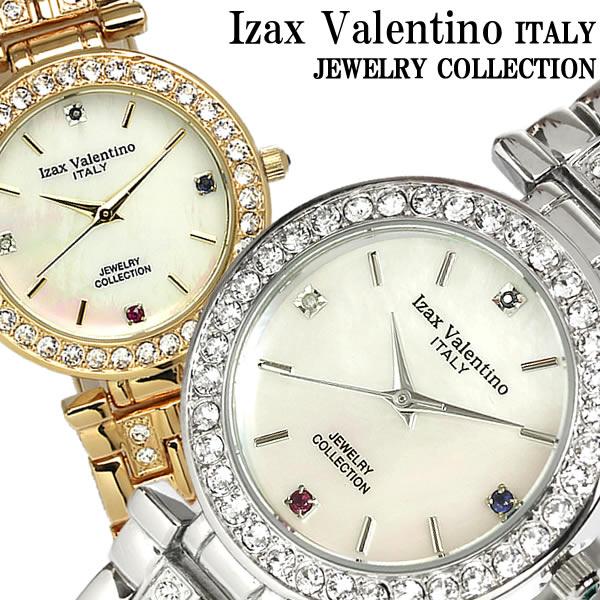 Izac Valentino アイザックバレンチノ 腕時計 ウォッチ メンズ クオーツ ステンレス 天然ダイアモンド シェル カットガラス IVG-6500