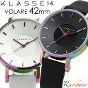【2年保証】【100%本物保証】【送料無料】KLASSE14 クラス14 腕時計 メンズ 42mm 革ベルト レザー レインボー ブラック ホワイト VOLAR...