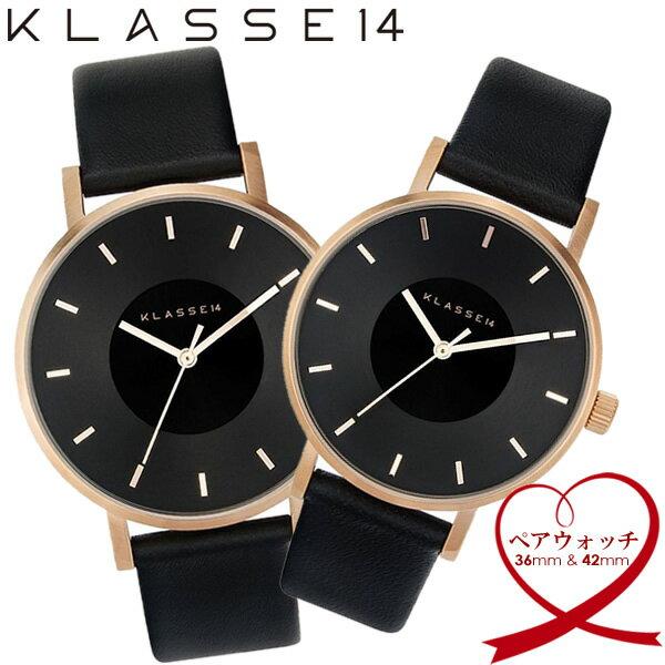 ≪11月中旬入荷≫【送料無料】KLASSE14 クラスフォーティーン ペアウォッチ 腕時計 ウォッチ 42mm×36mm メンズ レディース 革ベルト レザー VOLARE vo16rg005w vo16rg005m