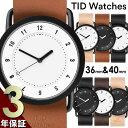 TID Watches ティッドウォッチズ 腕時計 メンズ レディース ユニセックス 40mm 36mm ペア 5気圧防水 ステンレス ブラック レザーベルト ...