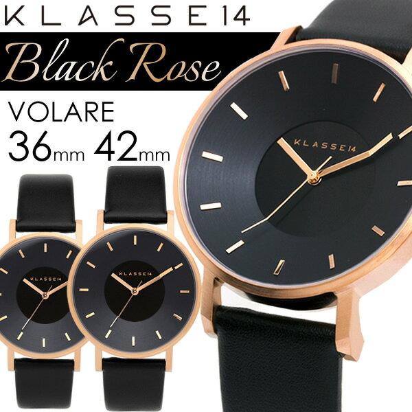【送料無料】KLASSE14 クラスフォーティーン 腕時計 ウォッチ メンズ レディース クオーツ 5気圧防水 36mm 42mm ブラックローズ VOLARE vo16rg005
