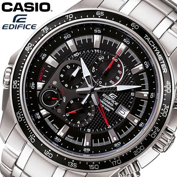 【送料無料】 CASIO EDIFICE カシオ エディフィス 腕時計 ウォッチ メタルバンド メンズ 男性用 クオーツ 10気圧防水 クロノグラフ ブラック EF-545D-1AV