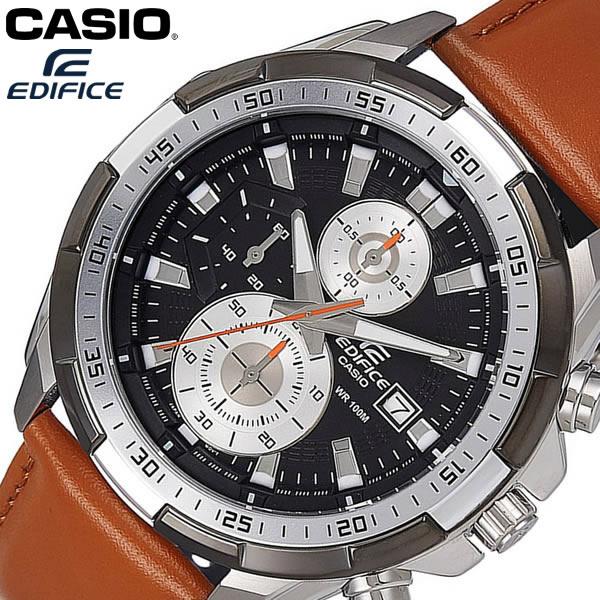 【送料無料】 CASIO EDIFICE カシオ エディフィス 腕時計 ウォッチ メンズ 男性用 クオーツ レザー 10気圧防水 クロノグラフ EFR-539L-1BV
