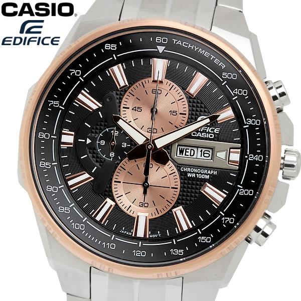 casio EDIFICE カシオ エディフィス クオーツ 腕時計 メンズ クロノグラフ 10気圧防水 カレンダー 日付・曜日 タキメーター ステンレス ウォッチ EFR549D1B9