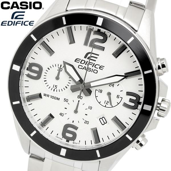 casio EDIFICE カシオ エディフィス クオーツ 腕時計 メンズ クロノグラフ ストップウォッチ 10気圧防水 ステンレス ウォッチ EFR553D7B