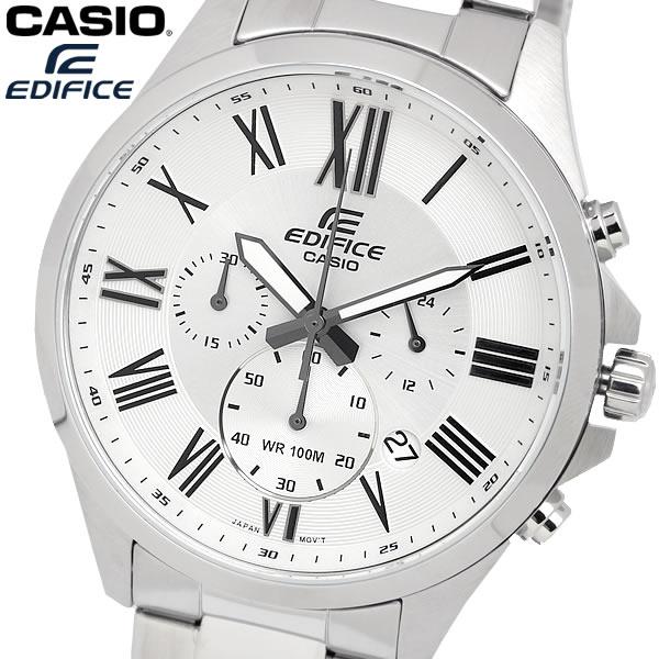 casio EDIFICE カシオ エディフィス クオーツ 腕時計 メンズ クロノグラフ 10気圧防水 ストップウォッチ 日付カレンダー ステンレス ウォッチ EFV500D7