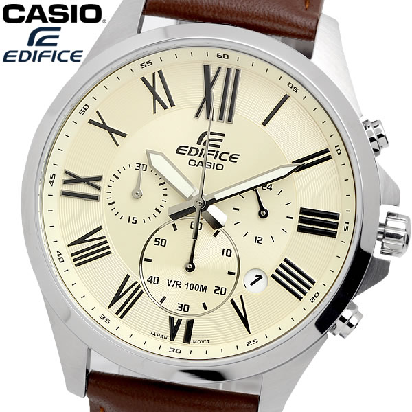 casio EDIFICE カシオ エディフィス クオーツ 腕時計 メンズ クロノグラフ 10気圧防水 ストップウォッチ 日付カレンダー ステンレス ウォッチ EFV500L7