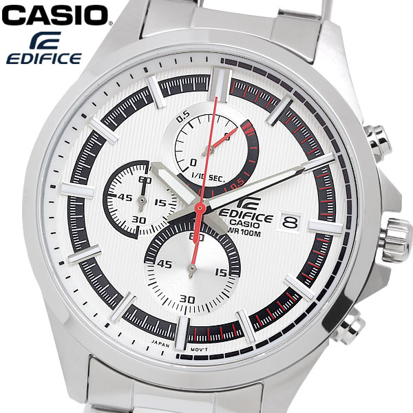 casio EDIFICE カシオ エディフィス クオーツ 腕時計 メンズ クロノグラフ 10気圧防水 日付カレンダー ストップウォッチ ステンレス ウォッチ EFV520D7A