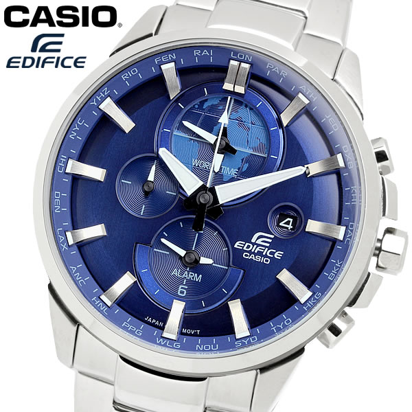 casio EDIFICE カシオ エディフィス クオーツ 腕時計 メンズ ワールドタイム 10気圧防水 日付カレンダー デュアルタイム アラーム ネオブライト ETD310D2A
