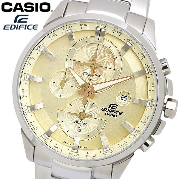 casio EDIFICE カシオ エディフィス クオーツ 腕時計 メンズ ワールドタイム 10気圧防水 日付カレンダー デュアルタイム アラーム ネオブライト ETD310D9AV