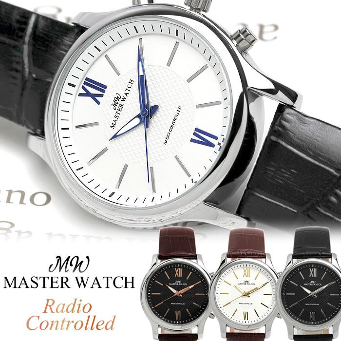 MASTER WATCH マスターウォッチ 腕時計 ウォッチ クオーツ 電波時計 日常生活防水 メンズ 男性用 シンプル 10年電池 敬老の日 ギフト mw007