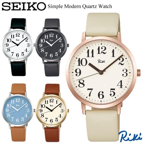 SEIKO ALBA セイコー Riki リキ クオーツ腕時計 ユニセックス デザインウォッチ カーブ無機ガラス 牛皮革ベルト ブランド シンプル 3針 RIKI10