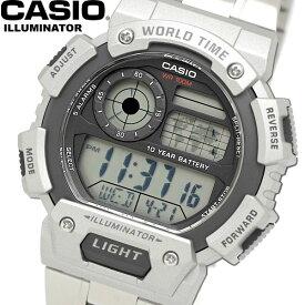カシオ CASIO 海外モデル メンズ 男性用 腕時計 ウォッチ クオーツ 10気圧防水 デジタルウォッチ ワールドタイム AE-1400WHD-1AVCF ギフト