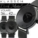 KLASSE14 クラスフォーティーン 腕時計 ウォッチ メンズ レディース クオーツ 5気圧防水 36mm 42mm ブラック メッシュ…