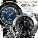 【Salvatore Marra】サルバトーレマーラ 電波 ソーラー 腕時計 メンズ 限定モデル SM18112 ステンレス 革ベルト ブラ…