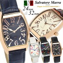 【Salvatore Marra/サルバトーレマーラ】腕時計 メンズ レディース トノー型 革ベルト レザー ウォッチ ブランド ラン…