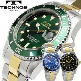 【送料無料】テクノス TECHNOS メンズ 腕時計 クオーツ 10気圧防水 日付カレンダー t2118