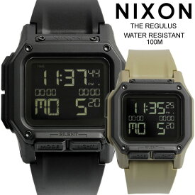 【送料無料】正規品 NIXON ニクソン REGULUS レグリス 腕時計 メンズ ラバーベルト ウォッチ クオーツ 日常生活防水 デジタル A1180001-00 A11802711-00