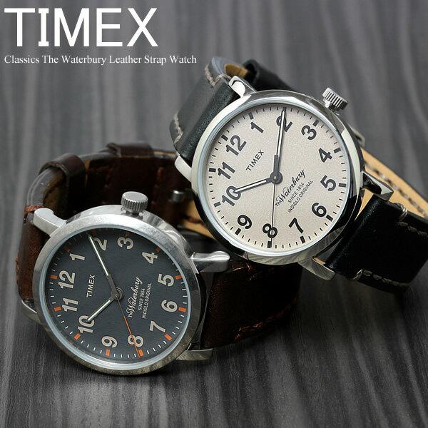 TIMEX タイメックス ウォーターベリー 腕時計 ウォッチ メンズ クラシック 革ベルト レザー 男性用 クオーツ 日常生活防水 TW2P58700 TW2P58800
