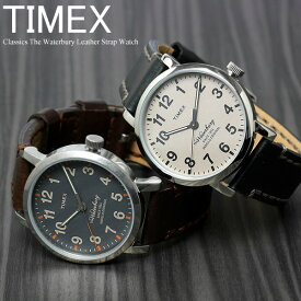 【マラソンSALE】【30%OFF】TIMEX タイメックス ウォーターベリー 腕時計 ウォッチ メンズ クラシック 革ベルト レザー 男性用 クオーツ 日常生活防水 TW2P58700 TW2P58800 父の日 ギフト