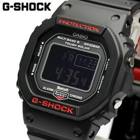 Gショック G-SHOCK 電波 ソーラー Bluetooth 腕時計 メンズ スマートフォンリンク スマートウォッチ デジタル ウォッチ ブラック レッド カシオ CASIO 海外モデル ギフト GW-B5600HR-1DR