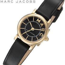 MARC JACOBS マーク ジェイコブス 腕時計 クオーツ 5気圧防水 レディース レザー ブラック×ゴールド 20mm 華奢 ブランド シグネチャースタイル MJ1585