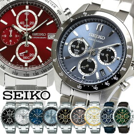 SEIKO セイコー 腕時計 メンズ クロノグラフ SPIRIT スピリット 10気圧防水 デイトカレンダー ウォッチ SBTR ビジネス 仕事 スーツ クロノ 人気 ブランド おしゃれ メタル 革ベルト ギフト
