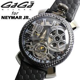 GAGAMILANO ガガミラノ マヌアーレ ネイマール コラボ 腕時計 スケルトン ウォッチ メンズ レザー サッカー 5516-nj02sb0f