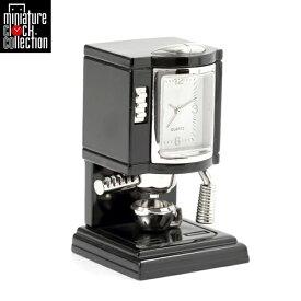 ミニチュア クロック 置時計 コーヒーメーカー型 おしゃれ 小さい アナログ 卓上 インテリア デザイン かわいい 雑貨 C3017-BK 父の日 ギフト
