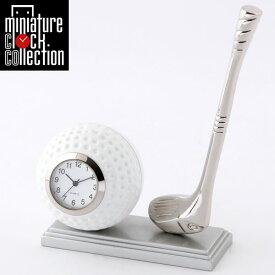 ミニチュア クロック 置時計 ゴルフ型 日本製クォーツ おしゃれ 小さい アナログ 卓上 インテリア デザイン かわいい 雑貨 レア アイテム ギフト C3231