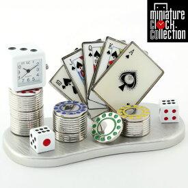 ミニチュア クロック 置時計 カジノ型 日本製クォーツ おしゃれ 小さい アナログ 卓上 インテリア デザイン かわいい 雑貨 ギフト C3329