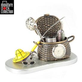 ミニチュア クロック 置時計 ガーデンニング型 おしゃれ 小さい アナログ 卓上 インテリア デザイン かわいい 雑貨 C3330 父の日 ギフト