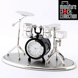 ミニチュア クロック 置時計 ドラム型 日本製クォーツ おしゃれ 小さい アナログ 卓上 インテリア デザイン かわいい 雑貨 ギフト C3373