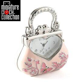 ミニチュア クロック 置時計 おしゃれ 小さい アナログ 卓上インテリア デザイン かわいい 雑貨 C3458-PK 父の日 ギフト