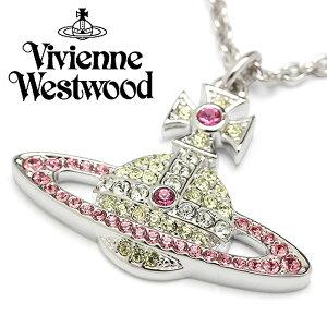Vivienne Westwood ヴィヴィアンウエストウッド レディース ネックレス ペンダント シルバー ピンク イエロー ブランド キカ KIKA PENDANT 63020094-W252