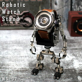 602 Creative Lab ロボット型ウォッチスタンド 腕時計スタンド 腕時計収納 メンズ インテリア 雑貨 おしゃれ ギフト プレゼント アップルウォッチスタンド WS-02