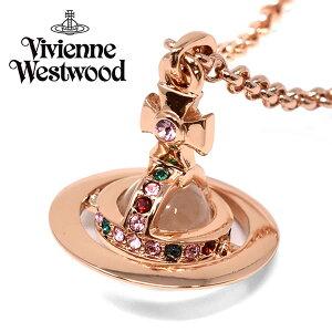 VivienneWestwood ヴィヴィアンウエストウッド ネックレス レディース ピンクゴールド プレゼント ブランド 63020098-g002-cn