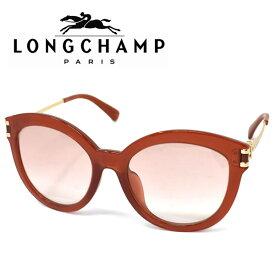 LONGCHAMP ロンシャン サングラス レディース ブランド ギフト プレゼント ライトブラウン クリアオレンジ ゴールド lo604sa-726