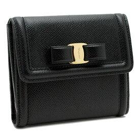 サルヴァトーレ フェラガモ 財布 レディース Salvatore Ferragamo ヴァラ リボン 22C911 0673755 ブラック