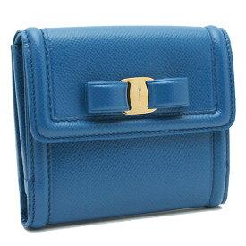 サルヴァトーレ フェラガモ 財布 レディース Salvatore Ferragamo ヴァラ リボン 22C911 0733654 ブルー
