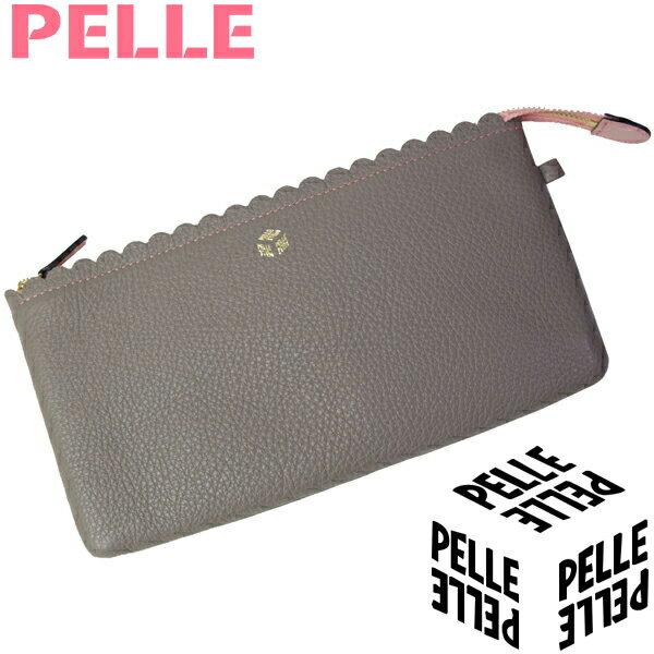 【母の日 プレゼント】ペレ PELLE 財布 レディース 長財布 クラッチバッグ ポーチ Naminami ナミナミ 1051 トープ